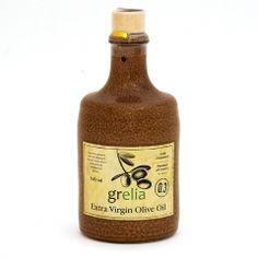 Grelia extra virgin olive oil - ceramic Greek Olives, Your Recipe, Greek Recipes, Hot Sauce Bottles, Whiskey Bottle, Olive Oil, Ceramics, Drinks, Food