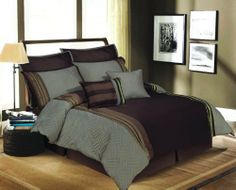 Artistic Linen Trellis Stripe 8-piece Jacquard Comforter Set King Brown by Royal Luxury LINEN. $81.50. Sequins-like metallic stripes. Machine washable. Extra soft. Jacquard. Available in 2-colors, and sizes. trellis 8-Piece Jacquard Set with Luxurious Metallic Sequins-Like Woven into the fabric. This is not like anything you have seen before, The metallic that is woven into the fabric, replicates sequins. Therefore it has the looks of Sequins without the roughness. Includes...