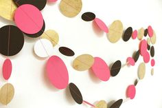 Items similar to Hot Pink Gold Black White Party Garland Hen Party Decoration, Wedding Garland, Paper Garland, Birthday Decor, Baby Room Decoration on Etsy Party Garland, Garland Wedding, Hen Party Decorations, Birthday Decorations, Pink And Gold, Black Gold, Black And White, Gold Paper, White Paper