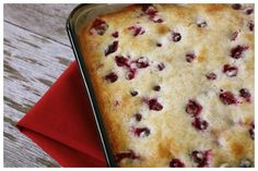 The Nummy Little Blog: Cranberry Cake with Butter Sauce