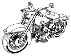 Classic motorcycle Clipart and Stock Illustrations. 7 Classic motorcycle vector EPS illustrations and drawings available to search from thousands of royalty free clip art graphic designers. Motorcycle Clipart, Motorcycle Tattoos, Retro Motorcycle, Motos Harley, Harley Panhead, Brust Tattoo, Harley Davidson Trike, Bike Drawing, Cars Coloring Pages
