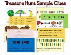 Ultimate Treasure Hunt Clues ~ PRINTABLE!