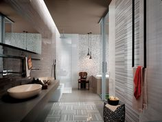 Beautiful bathroom design with gray color. It will make your bathroom look comfortable.