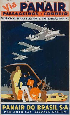 Vintage style travel poster - Brazil - Art Deco