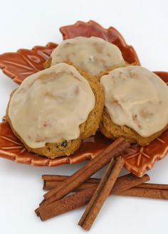 Pumpkin Cookies.  I made these last fall with cream cheese frosting, they were amazing!  Can't wait to make them again.