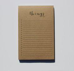 Kraft Notepad Things To Do Notepad Kraft by WrinkleAndCrease