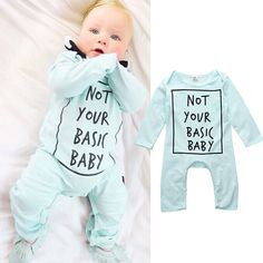 Baby Boys Girls  Warm Infant Rompers Babies Spring Autumn Letter Jumpsuit Romper Cotton Clothes Outfits 0-24M #Affiliate