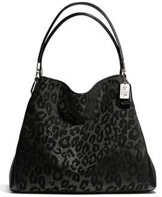 coach shoulder bag outlet bg95  COACH MADISON SMALL PHOEBE SHOULDER BAG IN CHENILLE OCELOT