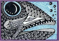 Dimar's Hobby Corner II: FISHY FISHY    - #DRAW #ZENTANGLE #ZENDALA #TANGLE #DOODLE #COLOR #COLOUR #FARBE