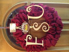 24inch FSU Wreath! @Brooke Cannon... We must make this!