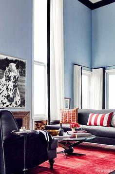Jessica Alba's Guest House Living Room