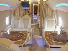 The jet interior Luxury Jets, Luxury Private Jets, Private Plane, Luxury Yachts, Avion Jet, Airplane Interior, Yacht Interior, Luxury Interior, Planes