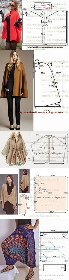 Clothing Patterns, Sewing Patterns, Sewing Collars, Diy Clothes, Clothes For Women, Fashion Drawing Dresses, Bias Tape, Fashion Sewing, Capes