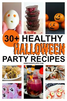 Get Halloween off to a spooky start with these delicious and healthy party food recipes. Perfect for kids and adults, these appetizers, snacks and dessert recipes will make everyone scream! Healthy Halloween, Halloween Food For Party, Scream Halloween, Halloween Treats, Halloween Activities, Spooky Treats, Zombie Party, Halloween Foods, Halloween Dinner