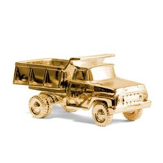 Pickup Gold  by Harry Allen    < Return to Areaware        $144fab        $180 retail price      Quantity      Add to Cart    Harry Allen loves trucks. His immaculately restored 1964 Willys Jeep was recently featured in the New York Times, but it was his fond memories of playing in the dirt that led him to the idea of Pickup. The beauty of any pickup truck is its utilitarian aesthetic—four strong wheels and the capacity to haul cargo. Harry had function on his mind as he cast a toy truck and…