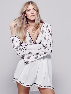 Diamond Embroidered Top from Free People!