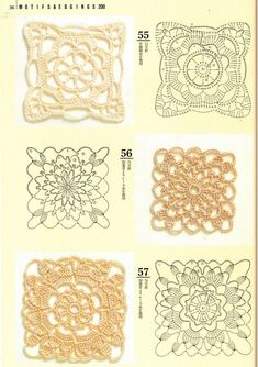 Crochet Patterns Book Motifs Edgings - 蒙 - Picasa Web Albums Point Granny Au Crochet, Crochet Square Blanket, Crochet Blocks, Granny Square Crochet Pattern, Crochet Diagram, Crochet Squares, Crochet Chart, Thread Crochet, Crochet Doilies