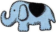 Image result for elephant template to sew