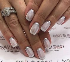 Luxury Nails – Great Make Up Ideas French Tip Nail Designs, Elegant Nail Designs, Elegant Nails, Fabulous Nails, Gorgeous Nails, Pretty Nails, Bride Nails, Luxury Nails, Hot Nails