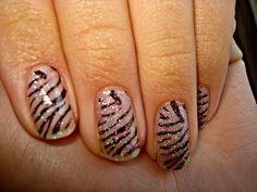 Zebra Print nails.