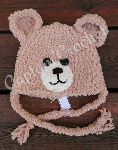 Bonnet 🐻 laine peluche Crochet, Creations, Teddy Bear, Boutique, Facebook, Toys, Animals, Plush, Glove