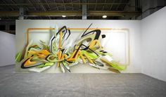 Daim burns it like Daim knows how, Love his tech take on Graffiti , unmistakable style. Daim Graffiti, 3d Graffiti Street Art, Graffiti Sketch, Best Graffiti, Graffiti Artwork, Graffiti Wallpaper, Graffiti Styles, Mural Art, Graffiti Artists