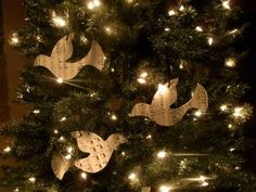 Hymnal Sheet Bird Ornaments