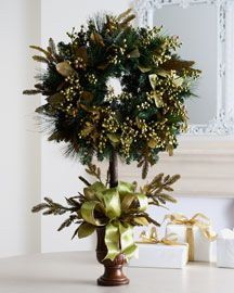 Green and Berry Wreath Topiary....