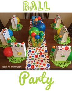 Ball Themed Party for a 2 Year Old More
