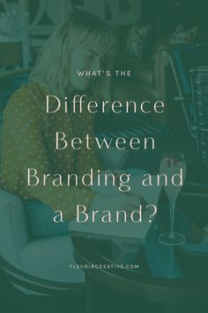Do you know the difference between a brand and branding? Branding is only one part of building a successful online brand. Visit the Fleurir Creative blog to find out the difference and be on your way to growing your brand online #branding #brand