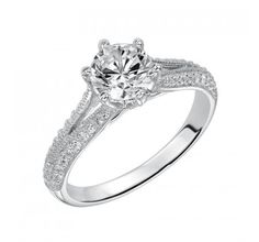 #vintage inspired split shank engagement ring