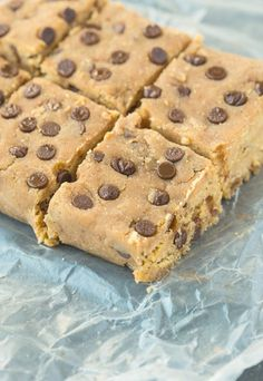 4-Ingredient Banana Blondie Protein Bar. These are healthy, delicious and fertility friendly. www.Conceivable.com