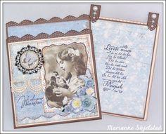 Mariannes papirverden.: Vintage tagkort