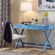 Neptune Writing Desk Home Decor Table Office Hallway Accent Piece Mercury Row