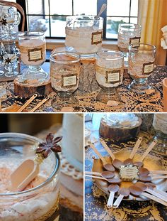 Make this hot cocoa bar from Hostess with the Mostess a must for your next winter party!