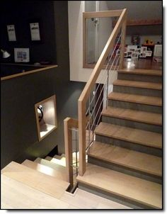 Escalier on pinterest stairs sous sol and painted stairs - Peinture montee escalier ...