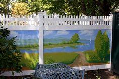 Vinyl Fence Mural