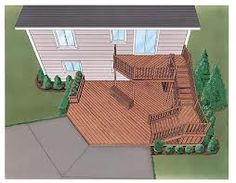 multi level deck plans - Google Search
