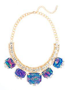 Blue Fire Opal Collar