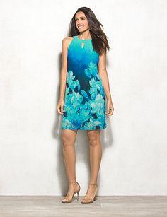 Tropical Floral Halter Dress | DRESSBAR