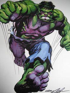 Neal Adams RARE Hulk Print Signed Full Color Defenders Cover Art NM | eBay