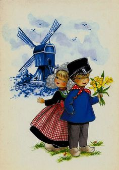 Boy and Girl with Windmill by Dutchgirl73, via Flickr