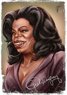 Oprah Winfrey caricature by Marzio Mariani (All Rights Reserved) Caricature Artist, Caricature Drawing, Funny Caricatures, Celebrity Caricatures, Famous Art, Famous Faces, Oprah Winfrey, Betty Boop, Black Celebrities