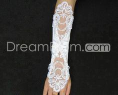 Classical Long Fingerless Satin Wedding Gloves
