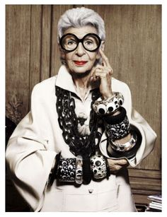 My muse! 93 years old and still doing the damn thing better than most of us young folks. LOVE HER. ❤️ #irisapfel