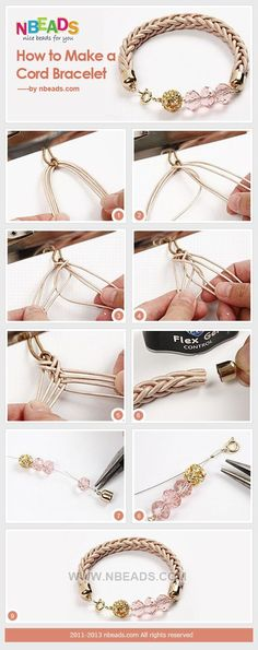 How to Make A Cord Bracelet – Nbeads                                                                                                                                                                                 More