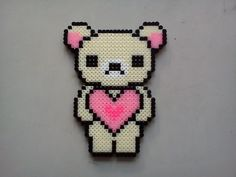 Love bear hama perler beads