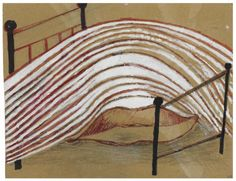 Louise Bourgeois (French/American, 1911-2010), Uncontrollable Torrent, 1997. Gouache, ink and graphite on paperboard, 22.8 x 29.5 cm.