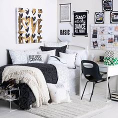 Dormify is a good source for dorm/apartment decor inspiration. Check out their Instagram feed, too!