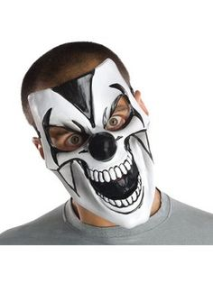Comedy Creepy Mask Would make a perfect mask for Dad with his black coat in a corner.